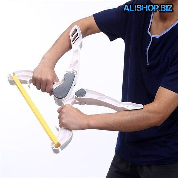 X-shape expander for training arms and shoulders