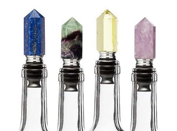 Винные пробки в виде огранённых минералов