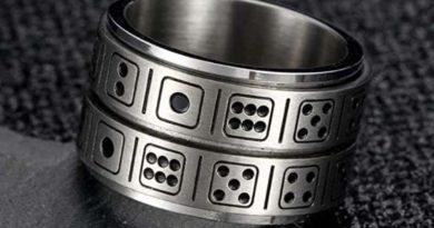 Кольцо-игральная кость INRENG