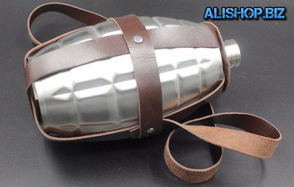 Стальная фляжка в виде гранаты