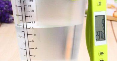Электронный кувшин для измерения объёма и температуры жидкости