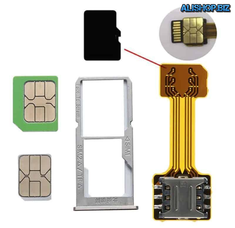 Remote adapter for SIM card