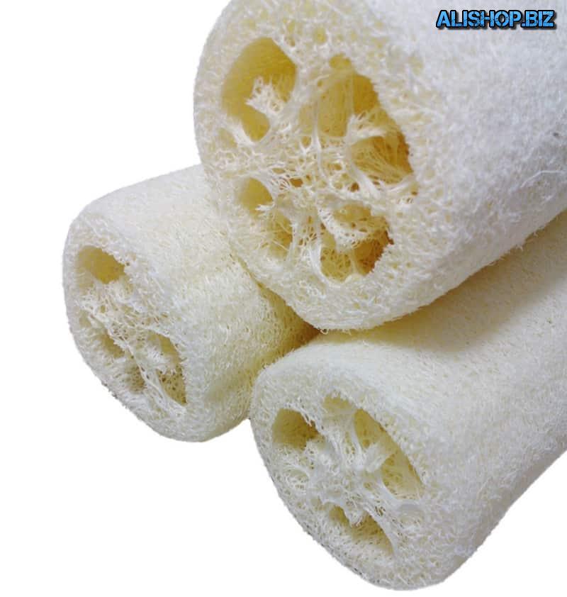 Natural sponge-skraber from loofahs