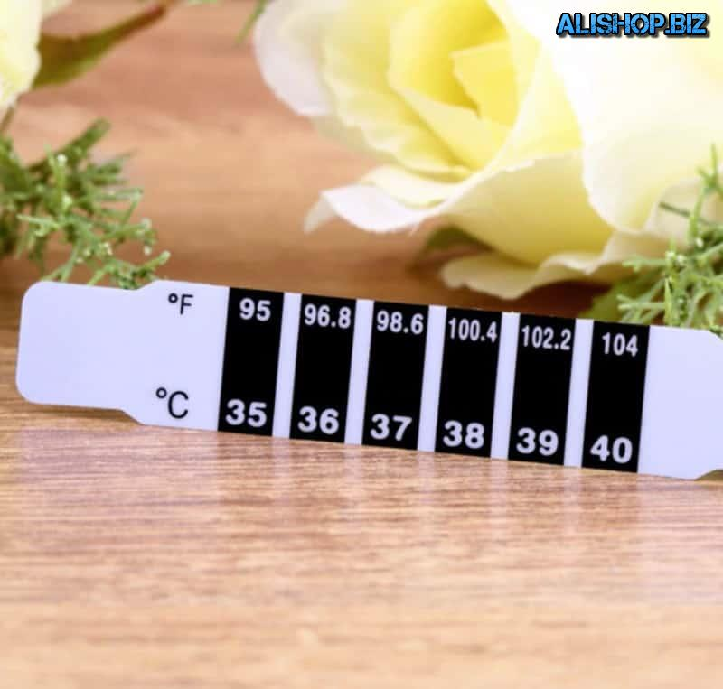 Thermometer strip for children