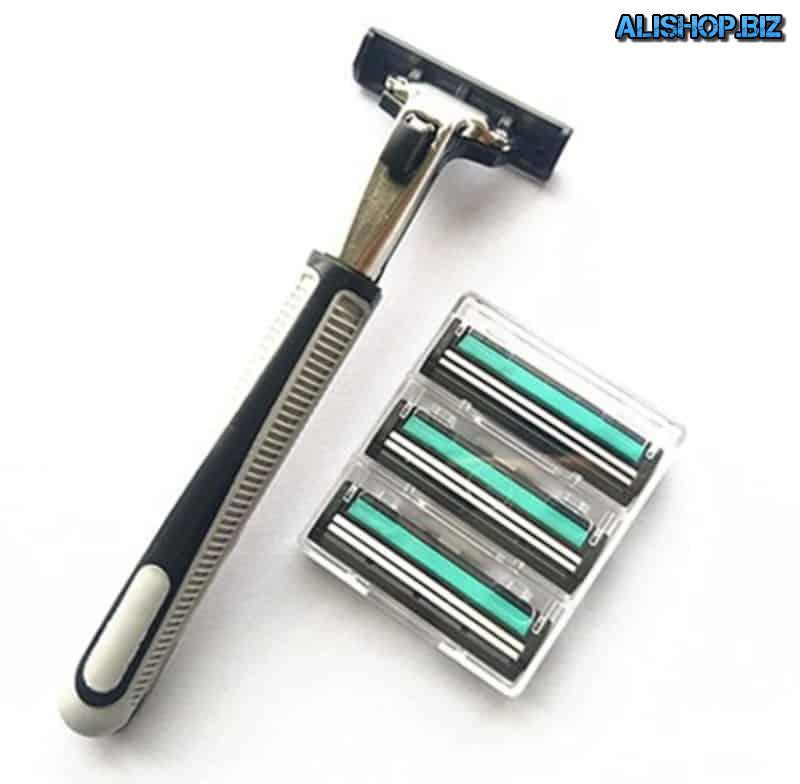 Men's razor with 2 blades