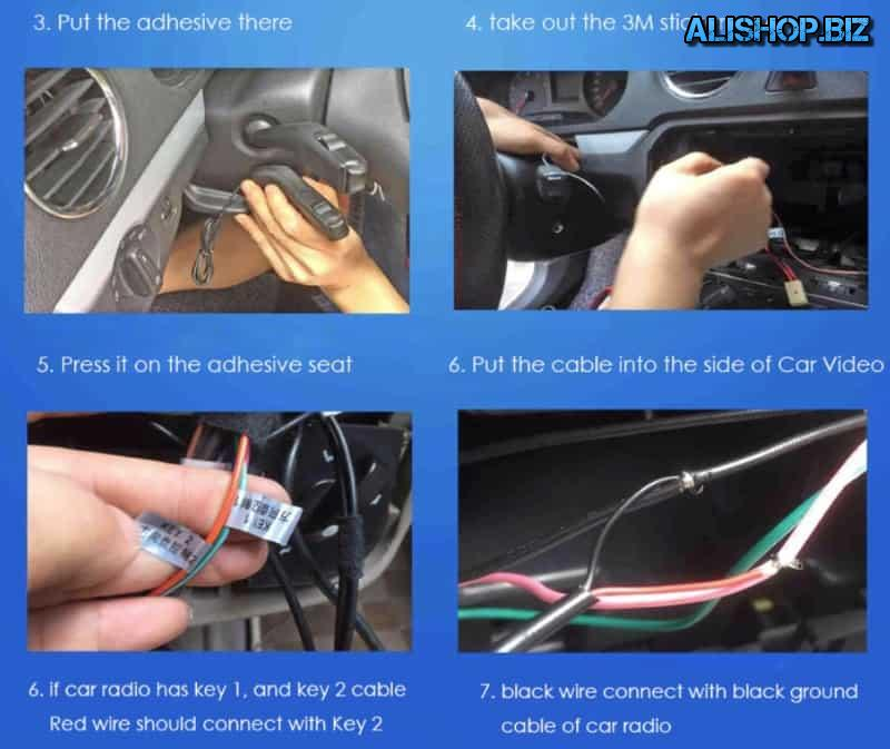Steering column remote control for car audio