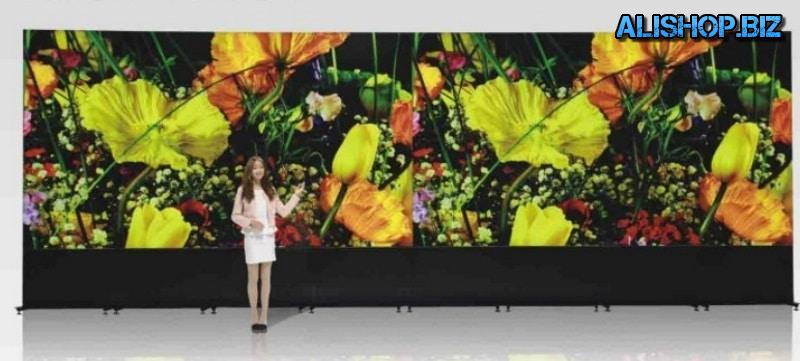A video wall of 55-inch panels from LG