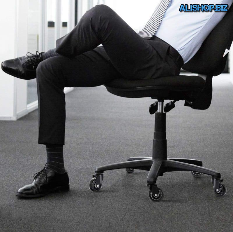 Noiseless wheels for office chairs