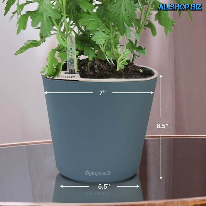 Pot, equipped with automatic irrigation system Aquaphoric