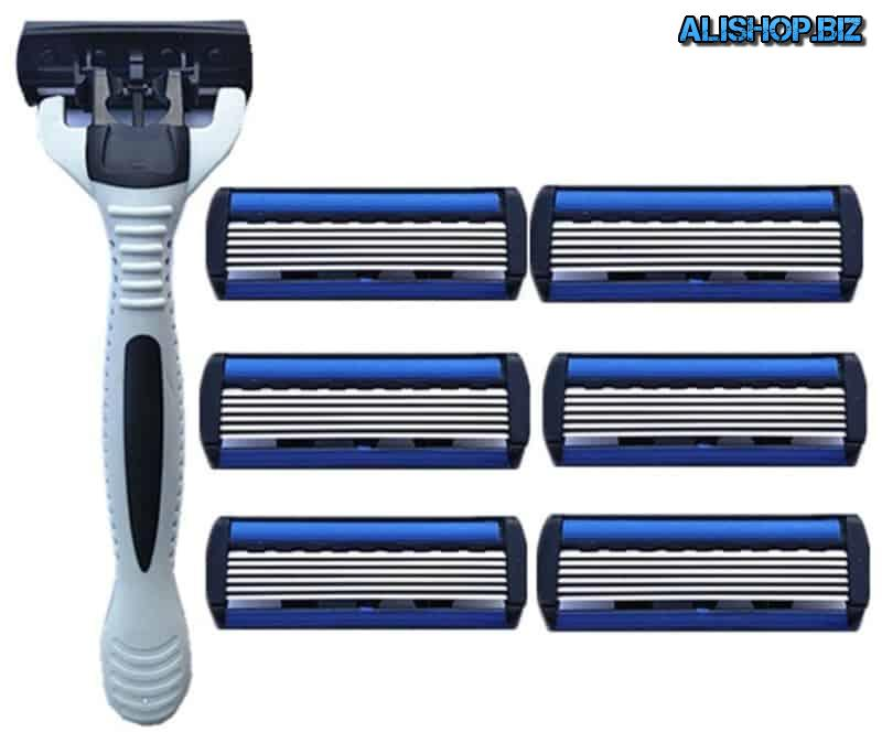 Shaver head for 6 blade
