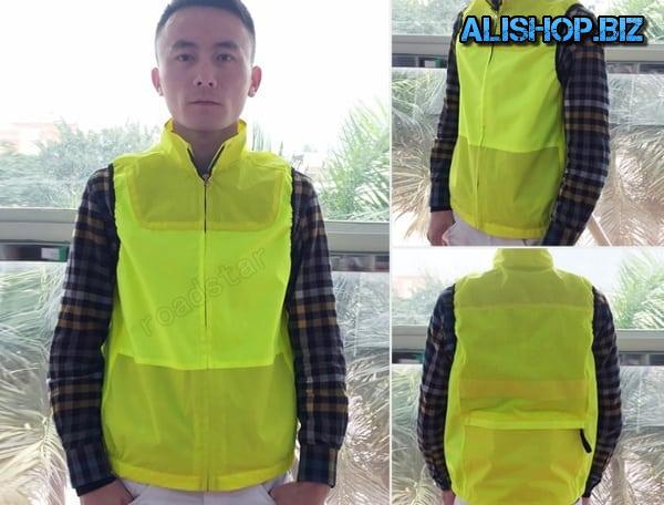 Reflective jacket-tank top