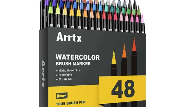Набор цветных кисточек Arrtx