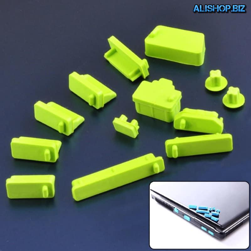 Silicone plug for notebook connector