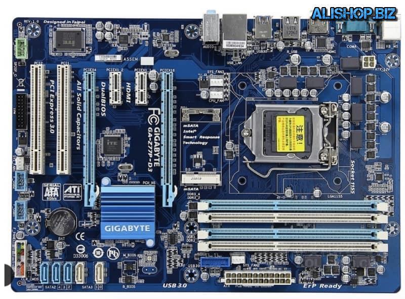Материнская плата Gigabyte GA-Z77P-D3 на LGA 1155