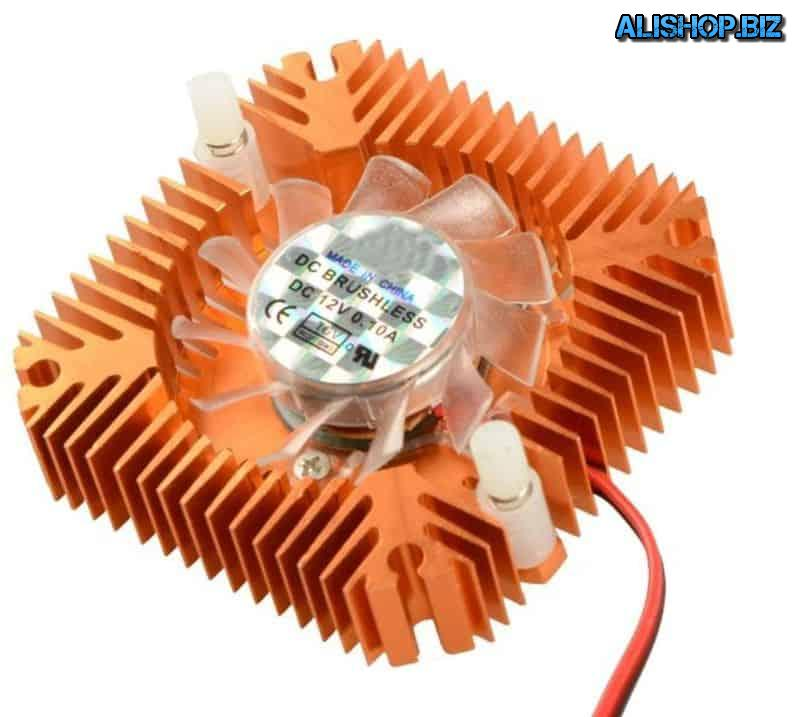 Miniature fan with aluminum heatsink