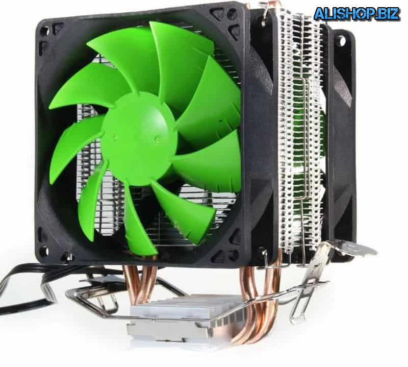 Tower cooler with 2 fans