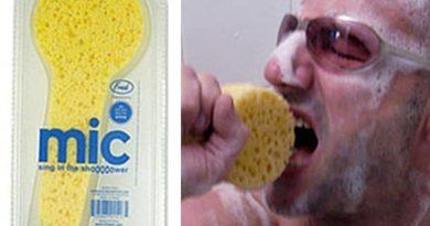 Губка для любителей петь в душе Shower Sponge Microphone