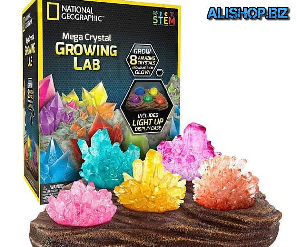 The kit for growing crystals and build a homemade night light Grow Your Own Crystal Nightlight
