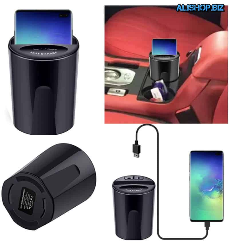 Wireless charger in the Cup holder