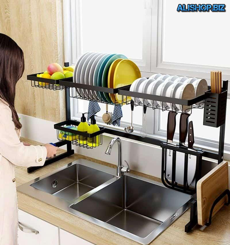 Large counter for drying dishes