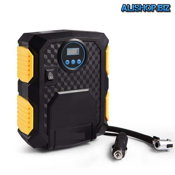 Compressor with digital display and flashlight