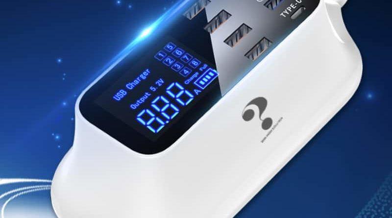 Многофункциональная зарядная станция с дисплеем