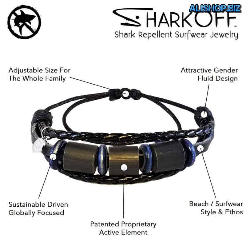 Bracelet for repelling sharks Shark OFF