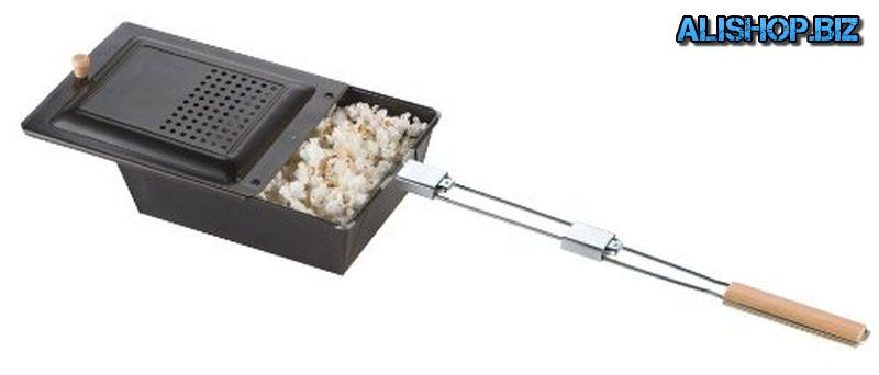 Griddle to cook popcorn on an open fire from Coleman