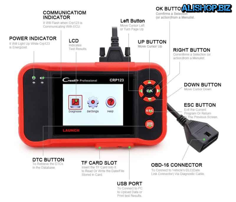 Module automotive diagnostic LAUNCH CRP123