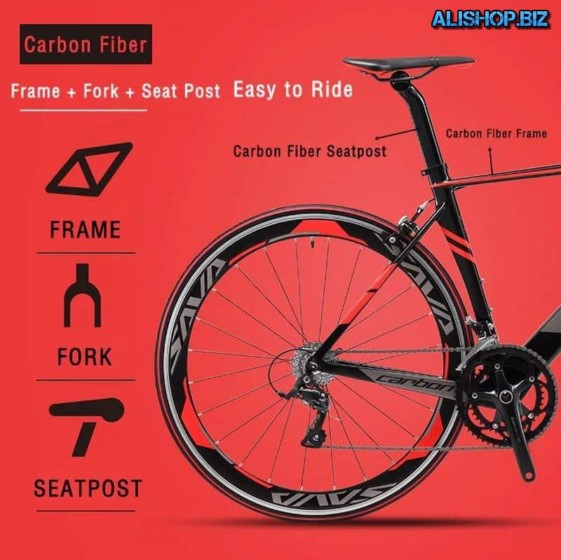 SAVA bike with carbon frame and fork