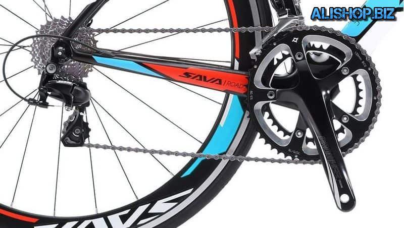 Велосипед SAVA с карбоновой рамой и вилкой