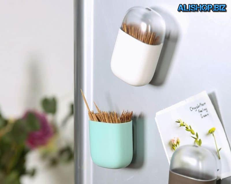 Magnetic holder for toothpicks