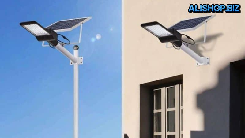 Street lamp powered by solar panels