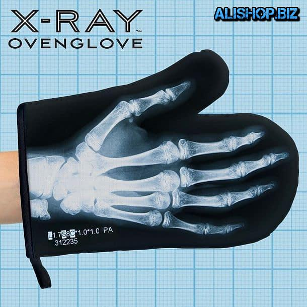 Glove MITT with x-ray palm