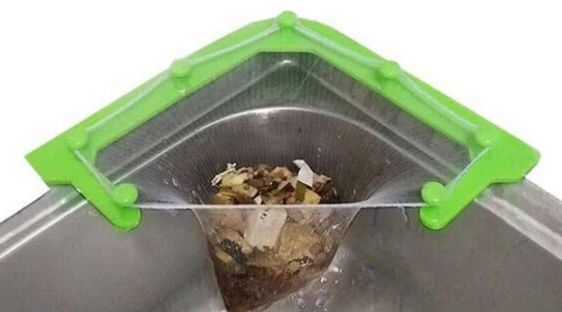 Уголок на раковину для сбора мусора