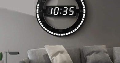 Светодиодные часы на стену